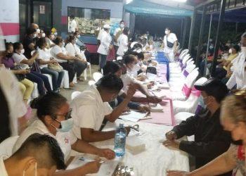 Chontales comenzó jornada de vacunación contra el COVID-19 en la madrugada. Foto: Cortesía