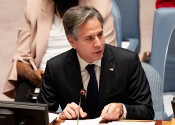 El secretario de Estado de EE.UU., Antony Blinken. Foto de archivo. EFE/EPA/JOHN MINCHILLO / POOL