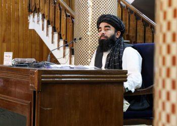 """Los talibanes prevén que el primer Gobierno para Afganistán sea """"interino"""". Foto: EFE/EPA/STRINGER"""