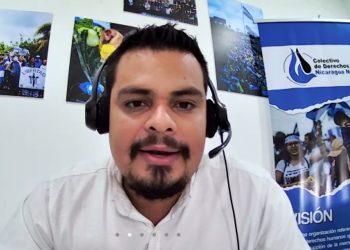 Amaru Ruíz, de la Fundación del Río, el primer activista de la sociedad civil acusado de ciberdelito por denunciar masacre de indígenas.. Foto: Internet.