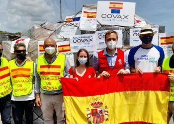 España dona a Nicaragua casi 200 mil vacunas AstraZeneca contra el COVID-19. Foto: Artículo 66 / Cortesía