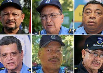 Estos son los supuestos «héroes» de la Policía premiados por la dictadura con orden Rigoberto López Pérez. Foto: La Prensa.