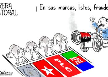 Seis partidos políticos le servirán de comparsa al FSLN para intentar legitimar los comicios presidenciales. Caricatura de Cako.