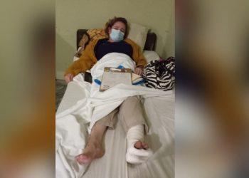 Hermana de la «Loba Feroz» se lesiona su pie y no logra cruzar a EE.UU. Foto: Artículo 66 / Cortesía