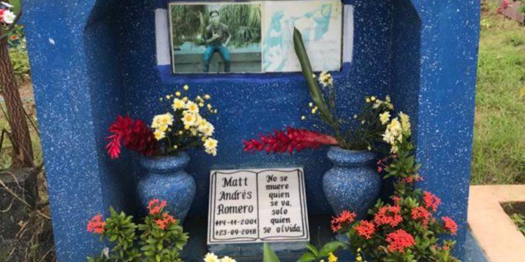 Se cumplen tres años del asesinato impune contra el adolescente Matt Romero. Artículo 66 / Cortesía