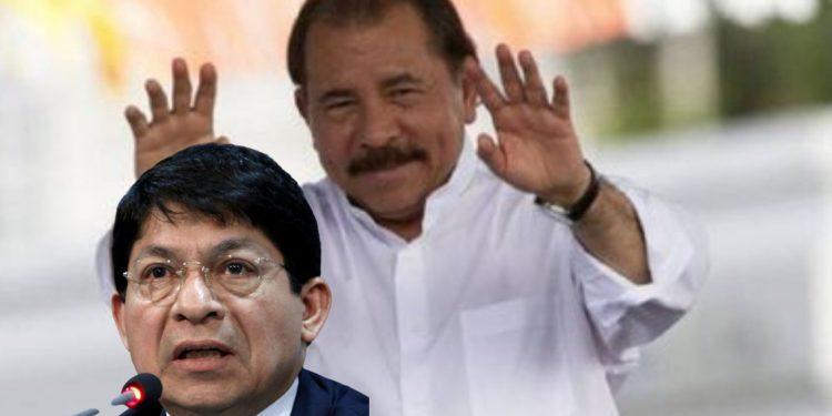 Daniel Ortega y Denis Moncada