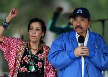 Los Ortega-Murillo mandan a sus ministros a hacerles su campaña política por miedo a salir de su bunker. Foto: Internet.