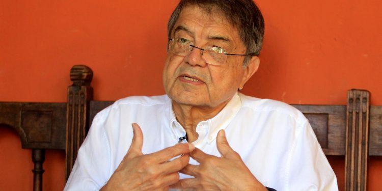 Fotografía del 31 de enero de 2020 del escritor y ex vicepresidente de Nicaragua, Sergio Ramírez. Foto: Artículo 66 / EFE/ RICARDO MALDONADO ROZO