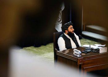Los talibanes anuncian los miembros clave del Gobierno interino de Afganistán. Foto: EFE/EPA/STRINGER