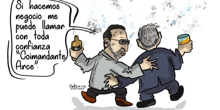 La Caricatura: El Coimandante Arce