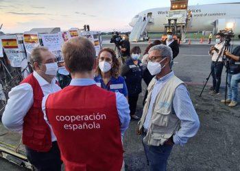 Nicaragua recibe 499,200 dosis de AstraZeneca donadas por España. Foto: Unicef.