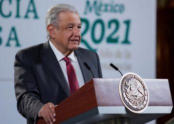 Presidente Andrés Manuel López Obrador, durante una rueda de prensa en Palacio Nacional, en la Ciudad de México. EFE/Presidencia de México