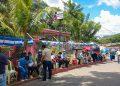 Habitantes de Boaco y El Crucero aguantan sol y lluvia para vacunarse contra el COVID-19. Foto: Alcaldía de Boaco.