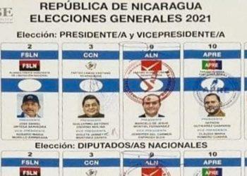 Régimen de Ortega aprueba boleta electoral con sus cinco partidos «sancudos». Foto: Artículo 66 / CSE