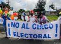 Nicas en todo el mundo preparan «gran marcha» en repudio a las elecciones de Daniel Ortega. Foto: Ilustrativa / AFP