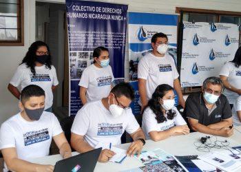 La NED destaca que la organización documenta casos de tortura y otras violaciones de derechos humanos, y desarrolla campañas de incidencia nacional, regional e internacional para promover y proteger los derechos de las víctimas. Foto: Colectivo Nicaragua Nunca Más.