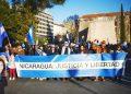 Nicaragüenses participarán de la Gran Marcha Mundial que tendrá como escenario las principales capitales del mundo para exigir la libertad de los presos políticos, democracia, y justicia por los asesinados. Foto: Cortesía SOS Madrid-España.