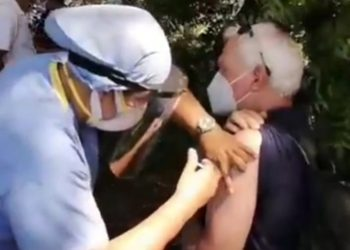 Honduras inicia a vacunar a nicaragüenses contra el COVID-19. Foto: Captura de pantalla