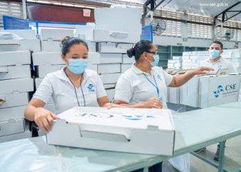 CSE ya tiene lista las boletas y tinta para las elecciones de Ortega . Foto: Artículo 66 / CSE