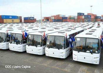 Llegan a Managua flota de 150 buses rusos de poca calidad