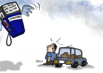 La Caricatura: Sigue el alza de los combustibles