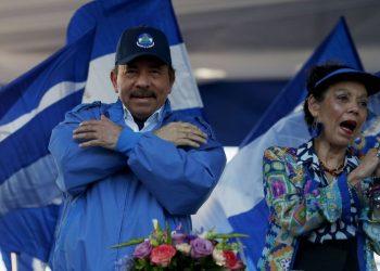 Daniel Ortega y Rosario Murillo aplauden donaciones de España. Foto: Internet