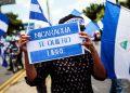 Nicaragüenses exiliados en Estados Unidos convocan a marcha para denunciar las elecciones en Nicaragua. Foto: Internet